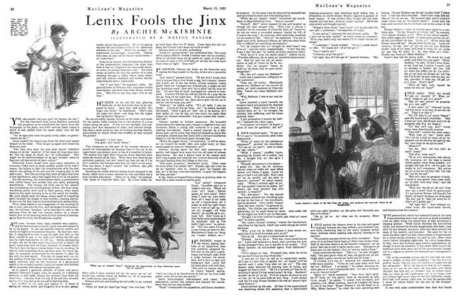 Article Preview: Lenix Fools the Jinx, March 1921 | Maclean's