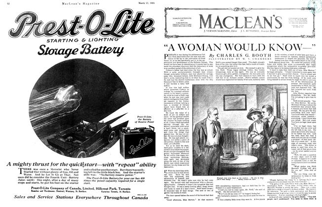 "Article Preview: ""A WOMAN WOULD KNOW—"", March 1921 