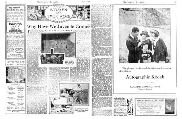 Article Preview: Why Have We Juvenile Crime?, APRIL 1st, 1921 1921 | Maclean's