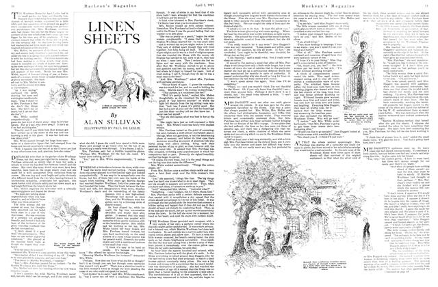 Article Preview: LINEN SHEETS, APRIL 1st, 1921 1921 | Maclean's