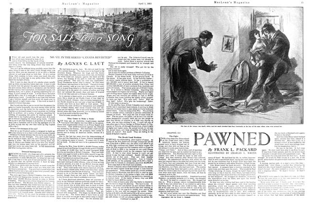Article Preview: PAWNED, APRIL 1st, 1921 1921 | Maclean's