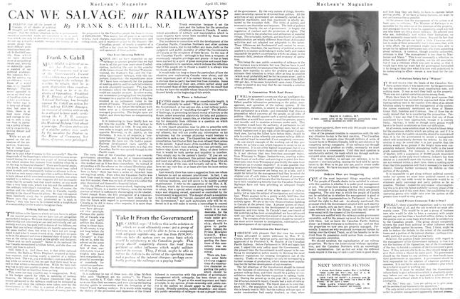 Article Preview: CAN WE SALVAGE our RAILWAYS?, April 1921 | Maclean's