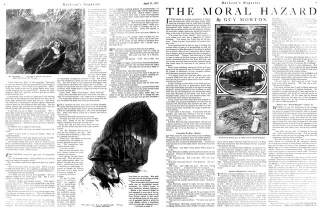 Article Preview: THE MORAL HAZARD, April 1921 | Maclean's