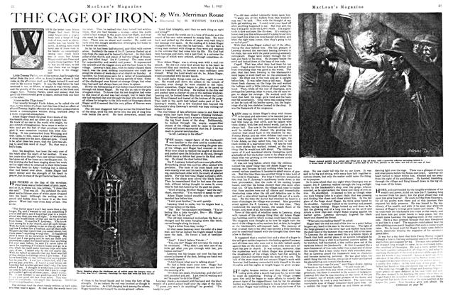 Article Preview: THE CAGE OF IRON, MAY 1st, 1921 1921 | Maclean's