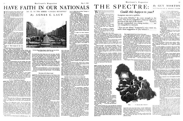 Article Preview: HAVE FAITH IN OUR NATIONALS, MAY 1st, 1921 1921 | Maclean's