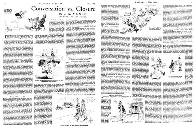 Article Preview: Conversation vs. Closure, MAY 1st, 1921 1921 | Maclean's