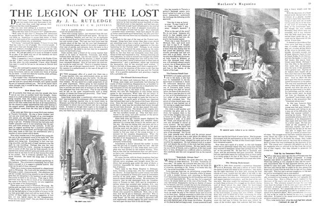 Article Preview: THE LEGION OF THE LOST, May 1921 | Maclean's