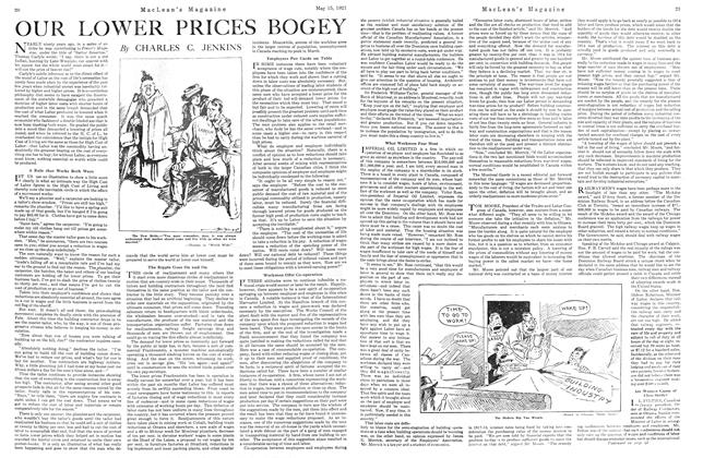 Article Preview: OUR LOWER PRICES BOGEY, May 1921 | Maclean's