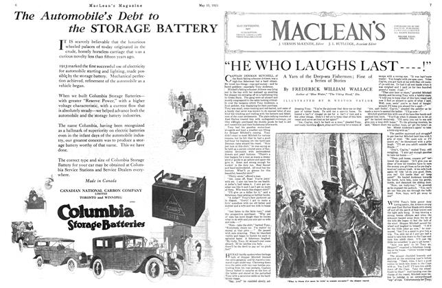 "Article Preview: ""HE WHO LAUGHS LAST----!"", May 1921 