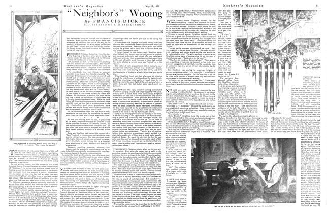"Article Preview: ""Neighbor's"" Wooing, May 1921 