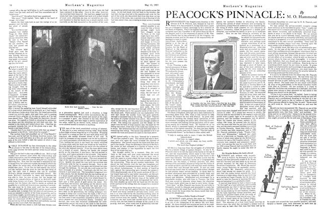Article Preview: PEACOCK'S PINNACLE:, May 1921 | Maclean's