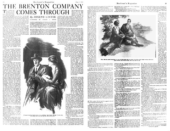Article Preview: THE BRENTON COMAPNY COMES THROUGH, JUNE 1st, 1921 1921 | Maclean's