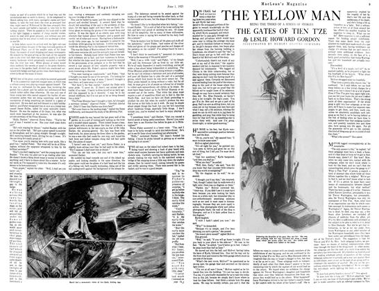 Article Preview: THE GATES OF TIEN T'ZE, JUNE 1st, 1921 1921 | Maclean's