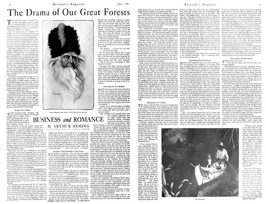 Article Preview: The Drama of Our Great Forests BUSINESS and ROMANCE, JUNE 1st, 1921 1921 | Maclean's