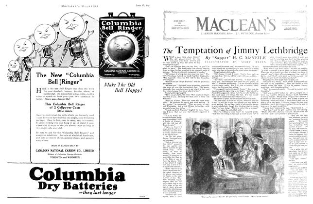 Article Preview: The Temptation of Jimmy Lethbridge, June 1921 | Maclean's