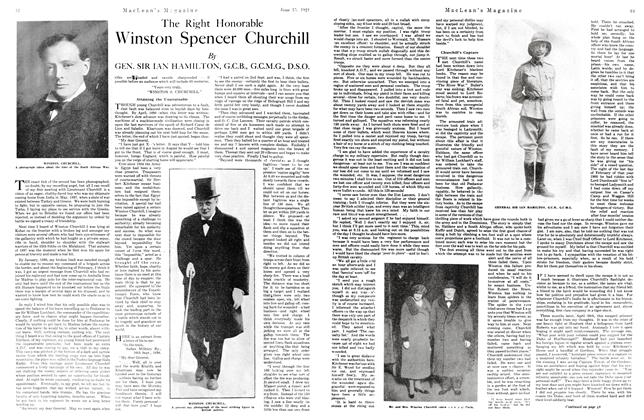 Article Preview: The Right Honorable Winston Spencer Churchill, June 1921 | Maclean's