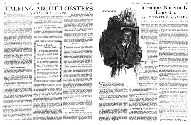 Article Preview: TALKING ABOUT LOBSTERS, July 1921 | Maclean's