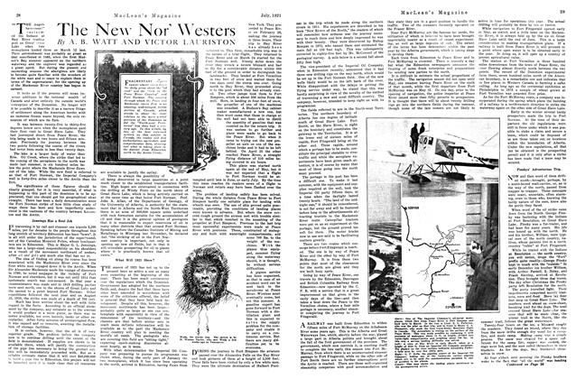 Article Preview: The New Nor' Westers, July 1921 | Maclean's
