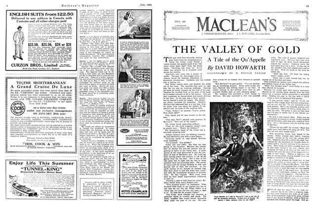 Article Preview: THE VALLEY OF GOLD, July 1921 | Maclean's