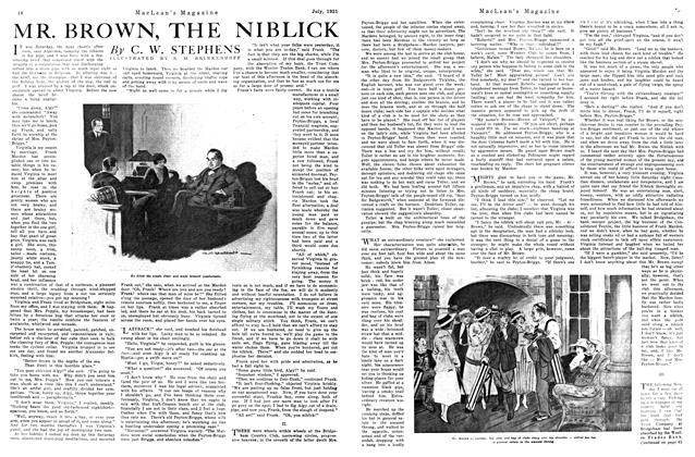 Article Preview: MR. BROWN, THE NIBLICK, July 1921 | Maclean's