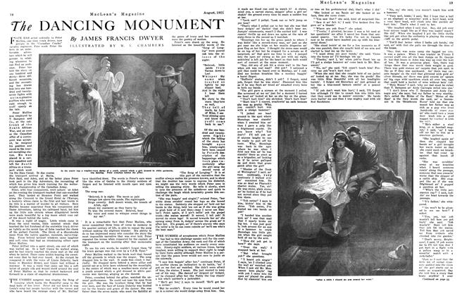 Article Preview: The DANCING MONUMENT, August 1921 | Maclean's