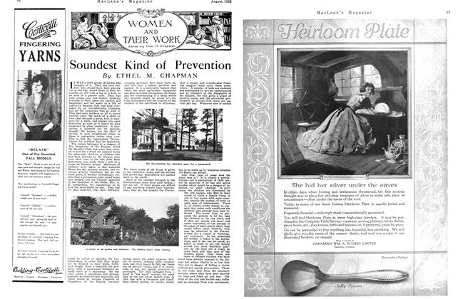Article Preview: Soundest Kind of Prevention, August 1921 | Maclean's