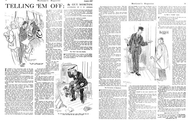 Article Preview: TELLING 'EM OFF:, August 1921 | Maclean's