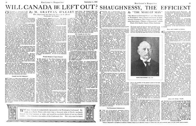 Article Preview: SHAUGHNESSY, THE EFFICIENT, September 1st, 1921 1921 | Maclean's