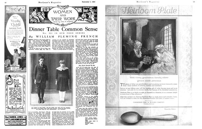 Article Preview: Dinner Table Common Sense, September 1st, 1921 1921 | Maclean's