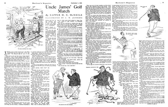 Article Preview: Uncle James' Golf Match, September 1st, 1921 1921 | Maclean's