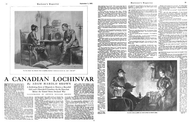 Article Preview: A CANADIAN LOCHINVAR, September 1st, 1921 1921 | Maclean's