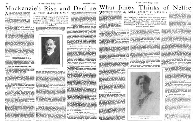 Article Preview: Mackenzie's Rise and Decline, September 1st, 1921 1921 | Maclean's