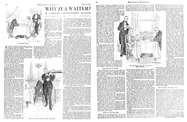 Article Preview: WHY IS A WAITER?, September 1921 | Maclean's
