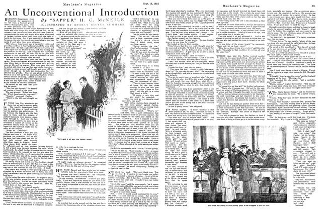Article Preview: An Unconventional Introduction, September 1921 | Maclean's