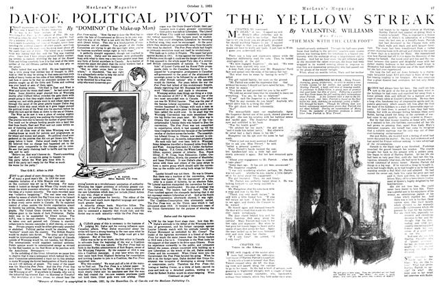 Article Preview: THE YELLOW STREAK, October 1st, 1921 1921 | Maclean's