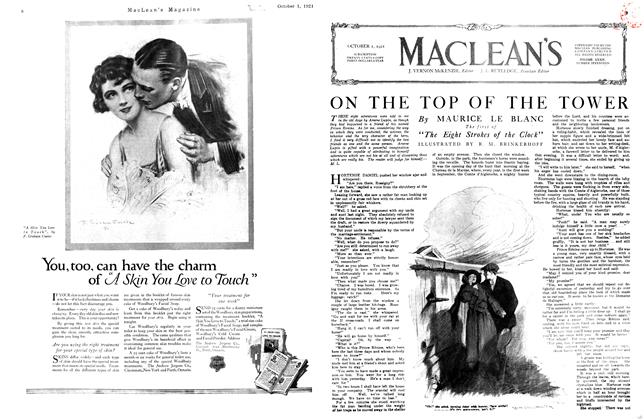 Article Preview: ON THE TOP OF THE TOWER, October 1st, 1921 1921 | Maclean's
