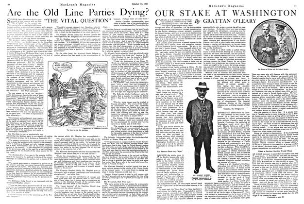 Article Preview: OUR STAKE AT WASHINGTON, October 1921 | Maclean's
