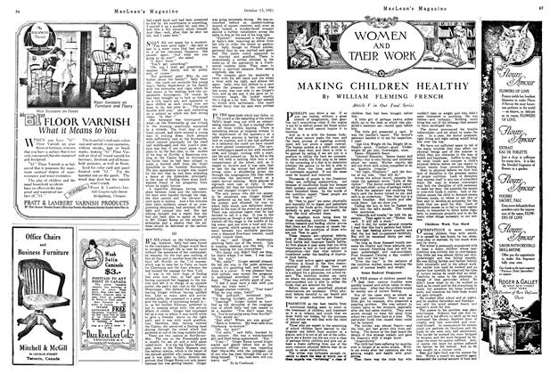 Article Preview: MAKING CHILDREN HEALTHY, October 1921 | Maclean's