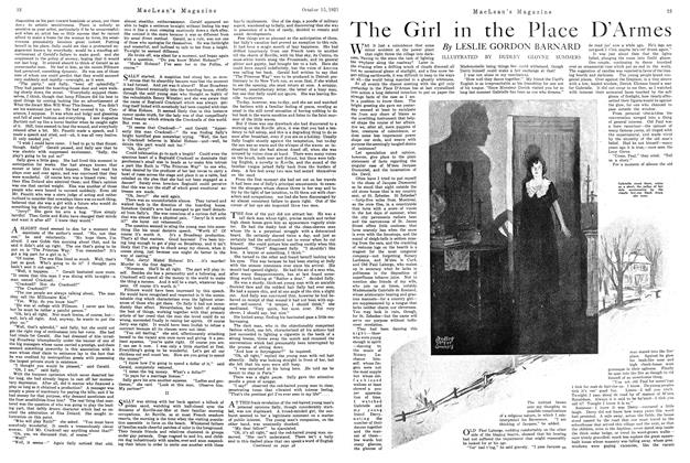 Article Preview: The Girl in the Place D'Armes, October 1921 | Maclean's