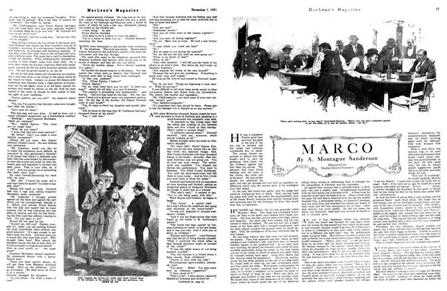 Article Preview: MARCO, November 1st, 1921 1921 | Maclean's