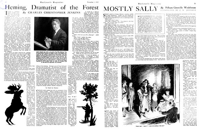 Article Preview: MOSTLY SALLY, November 1st, 1921 1921 | Maclean's