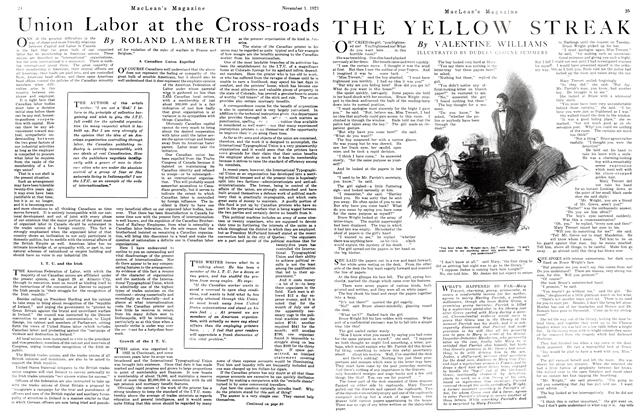 Article Preview: THE YELLOW STREAK, November 1st, 1921 1921 | Maclean's