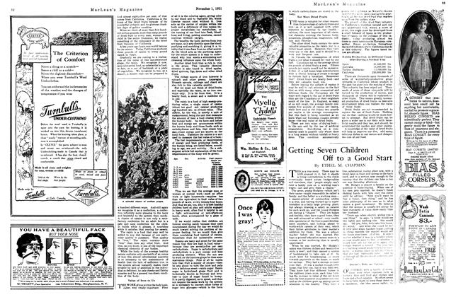 Article Preview: Getting Seven Children Off to a Good Start, November 1st, 1921 1921 | Maclean's