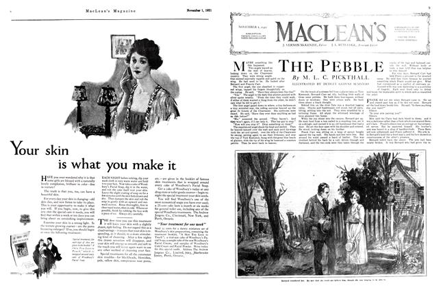 Article Preview: THE PEBBLE, November 1st, 1921 1921 | Maclean's