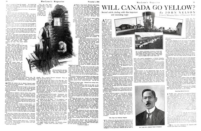 Article Preview: WILL CANADA GO YELLOW?, November 1st, 1921 1921 | Maclean's