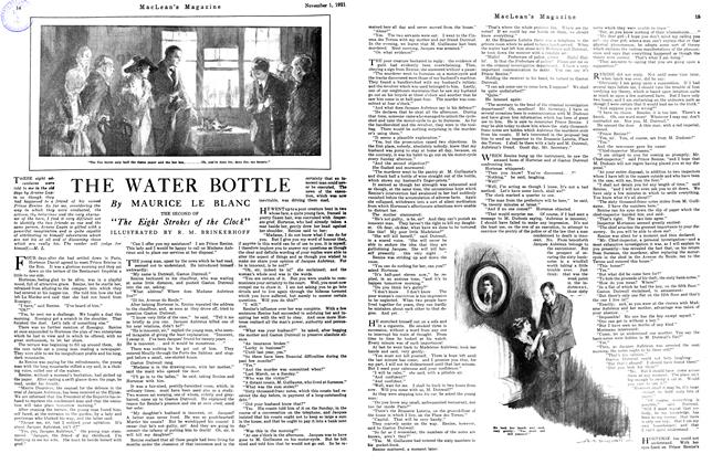 Article Preview: THE WATER BOTTLE, November 1st, 1921 1921 | Maclean's