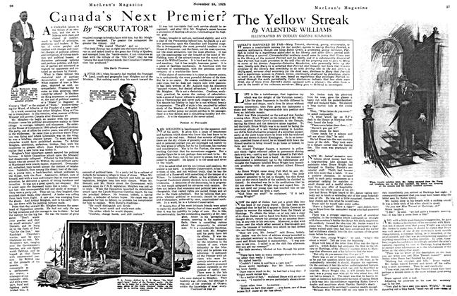 Article Preview: Canada's Next Premier?, Toronto, November 15, 1921 1921 | Maclean's