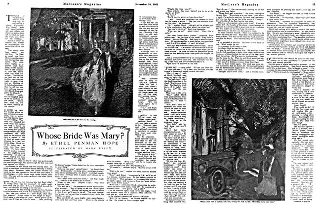 Article Preview: Whose Bride Was Mary?, Toronto, November 15, 1921 1921 | Maclean's