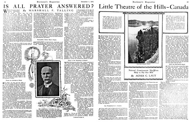 Article Preview: Little Theatre of the Hills-Canada, December 1921 | Maclean's