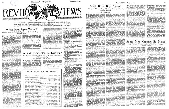 Article Preview: Would Humorist's Diet Do You?, December 1921 | Maclean's